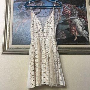 White Lace Dress sz Medium ABS